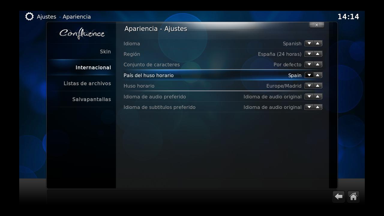 Configuración local en Raspbmc