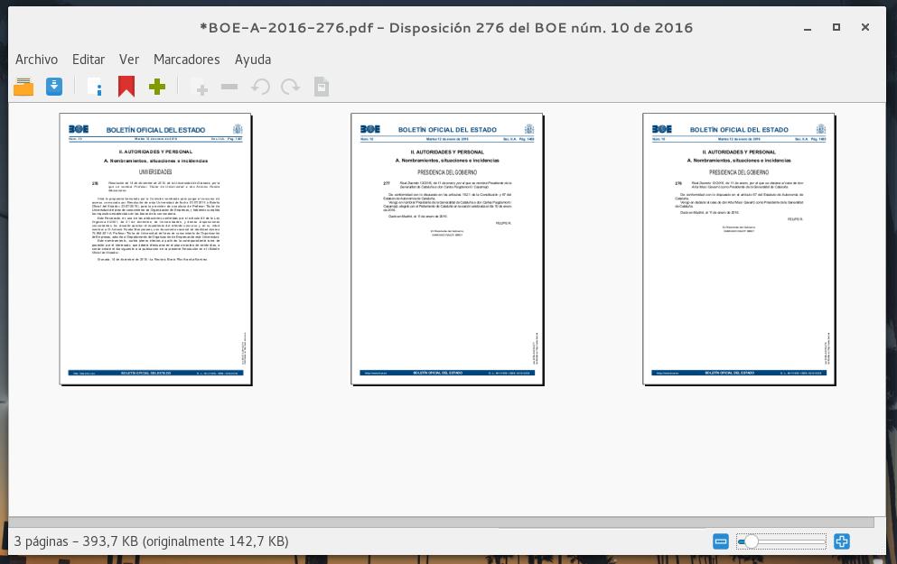 Captura de PDF Mod juntando 3 páginas del BOE