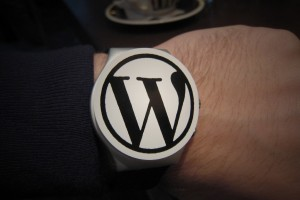 Reloj WordPress