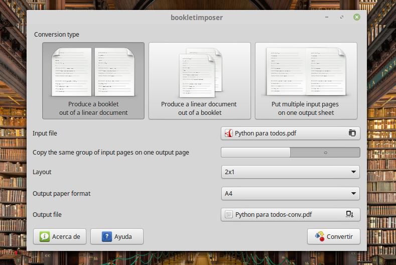 BookletImposer: Crear libros y folletos para imprimir desde PDF