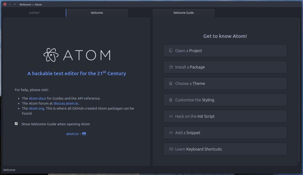 Atom editor: Introducción e Instalación