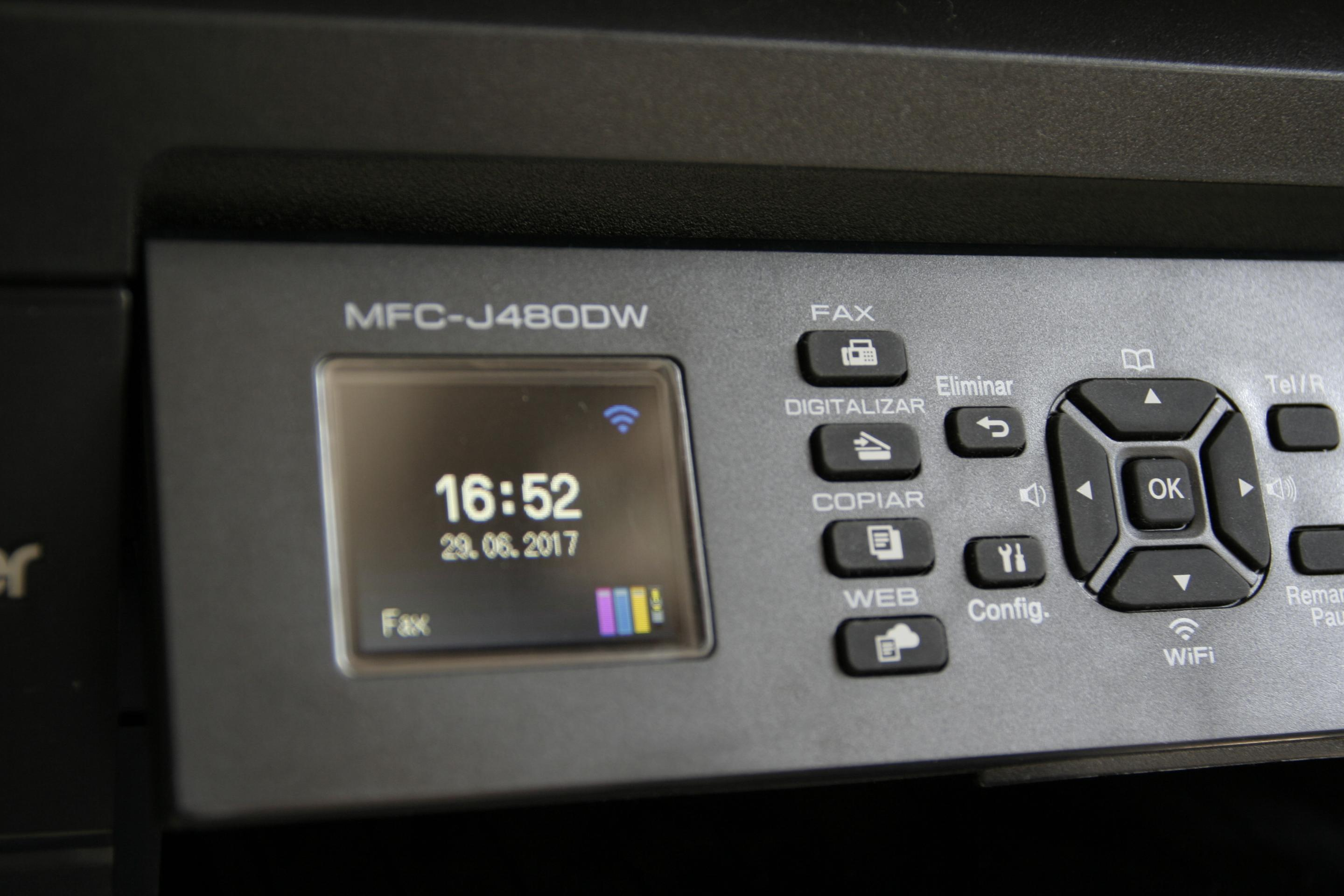 Panel de control de la impresora Brother MFC-J480DW