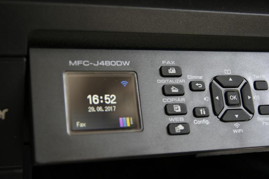 Panel de control de la impresora Brother MFC-J480DW